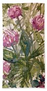 'harmony, Wisdom And Understanding From The Red Clover' Bath Towel
