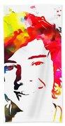 Harry Styles Paint Splatter Bath Towel