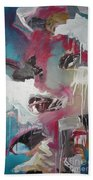 Haunted Voice-blue Red Painting Bath Towel