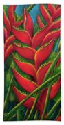 Hawaii Heliconia Flowers #445 Bath Towel