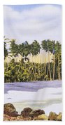 Hawaii Postcard Bath Towel