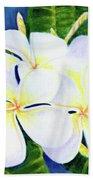 Hawaii Tropical Plumeria Flower  #208 Hand Towel