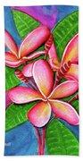 Hawaii Tropical Plumeria Flower #243 Hand Towel