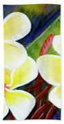 Hawaii Tropical Plumeria Flower #298, Hand Towel