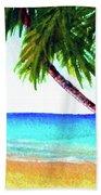 Hawaiian Beach Palm Trees  #425 Hand Towel