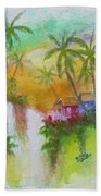 Hawaiian Homestead In The Valley #460 Hand Towel