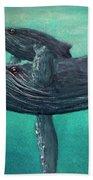 Hawaiian Humpback Whales #455 Bath Towel