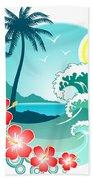 Hawaiian Island 2 Bath Towel