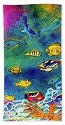 Hawaiian Reef  Fish #223 Bath Towel
