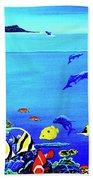 Hawaiian Reef Fish Nimo #193 Bath Towel