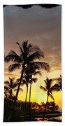 Hawaiian Sunset Design Bath Towel