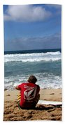 Hawaiian Surfer Bath Towel