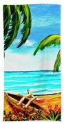 Hawaiian Tropical Beach #356 Hand Towel