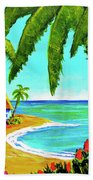 Hawaiian Tropical Beach  #364 Hand Towel
