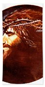 Head Of Christ Bath Towel