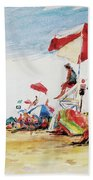 Head  Of The Meadow Beach, Afternoon Hand Towel
