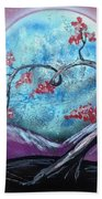 Heart Blossom Bath Towel