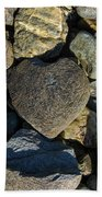 Heart Shaped Stone Loch Fyne  Bath Towel