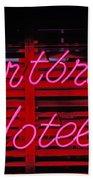Heartbreak Hotel Neon Bath Towel