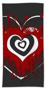 Hearts Graphic 1 Bath Towel