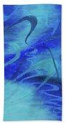 Heartsong Blue 1 Bath Towel