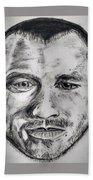Heath Ledger Charcoal Sketch Bath Towel