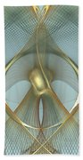 Heavenly Wings Of Gold Hand Towel