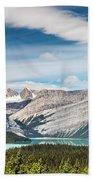 Hector Lake, Canadian Rockies Bath Towel