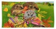 Hedgehogs Inside Scarf Bath Towel