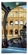 Helicopter On Colosseo Bath Towel