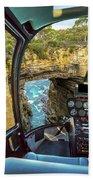 Helicopter On Tasman Arch Bath Towel