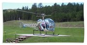 Helicopter Ride South Dakota Hand Towel