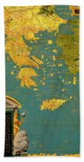 Hellenic Peninsula Greece, Albania, Bosnia And Bulgaria Bath Towel