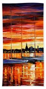 Helsinki - Sailboats At Yacht Club Bath Towel