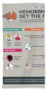 Hemorrhoids Get The Facts Hand Towel