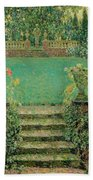 Henri Le Sidaner 1862 - 1939 Market Garden, Gerberoy Bath Towel