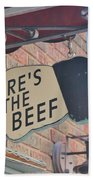 Heres The Beef Hand Towel