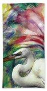 Heron Flair Bath Towel