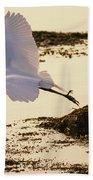 Heron Fly-by Bath Towel