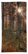 Heron Pond Cypress Trees Bath Towel