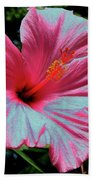 Hibiscus With A Solarize Effect Bath Towel