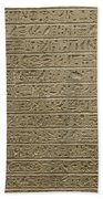 Hieroglyph Iv Bath Towel