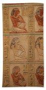 Hieroglyphic Detail Bath Towel