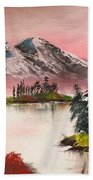High Lakes Summer Sunset Bath Towel