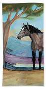 High Meadow Mustang Bath Towel