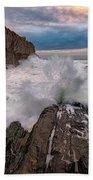 High Tide At Bald Head Cliff Bath Towel