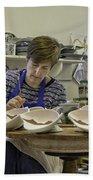 Highland Stoneware Artist At Work Hand Towel
