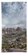 Hiker At Twin Lakes - Chicago Basin - Weminuche Wilderness - Colorado Bath Towel