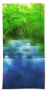 Hiking At The Rivers Edge Bath Towel