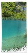 Hiking Kaluderovac Lake Bath Towel